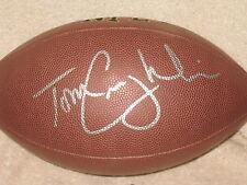 Tom Coughlin Signed Football New York Giants Jacksonville Jaguars Syracuse COA