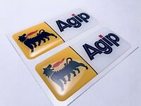 2 pcs. AGIP Logo 3D Domed Stickers