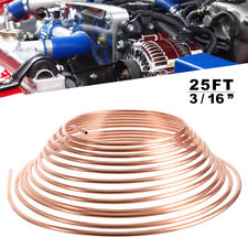 "COPPER BRAKE PIPE HOSE 3/16"" 25FT ROLL LINE TUBE PIPING JOINT UNION for Car AG"