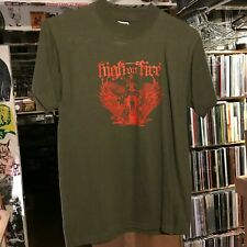 HIGH ON FIRE - Green T-Shirt - Size Small S - Stoner Doom Metal