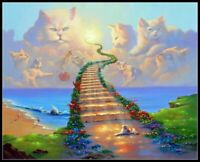 All Cats go to Heaven - Chart Counted Cross Stitch Pattern Needlework DIY Xsitch