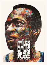 Miles Davis  *POSTER*  Jazz MASTER print - Europe Tour - MUST SEE - PSYCHEDELIC
