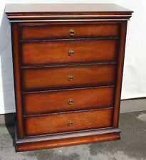 New Neat Large Mahogany Chest of 5 Drawers.