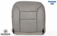 2000 Chevy Silverado 3500 Dually Diesel PASSENGER Bottom Leather Seat Cover GRAY