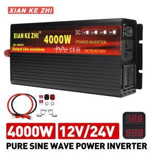 Remote controller Pure Sine Wave power Inverter 6000W 12V 24V 48V to 120V