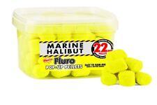 Marine Halibut Large 22mm Fluro pop-up pellets, carp, barbel, catfish, 185g tub