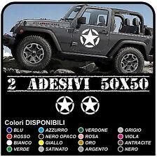Adesivi portiera STELLA militare cm 50 per Jeep WRANGLER e RENEGADE e WILLYS
