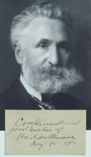 Hudson Maxim Inventor Smokeless Gunpowder & Explosives Signed Autograph Card