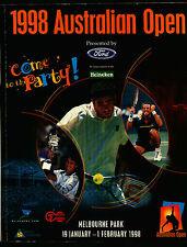 1998 Australian Tennis Open...Official Program...Hingis, Rafter, Chang, Seles...