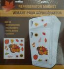 NEW Fall Thanksgiving Refrigerator Magnets Pumpkins Leaves ~ Turkey Leaves