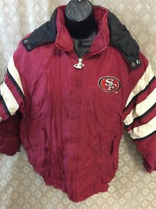 VTG Pro Player San Francisco 49ers Maroon starter Jacket youth XL 18-20 full zip