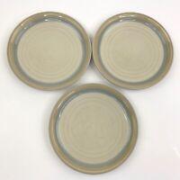 """Set of 3 Noritake Stoneware Painted Desert 8-1/4"""" Salad Dessert Plates #8603"""