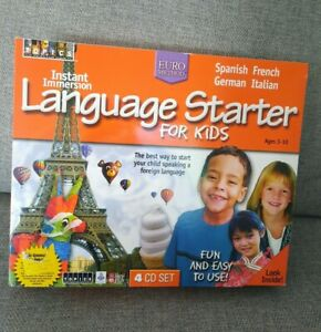 Instant Immersion Language Starter For Kids Foreign Language 4 Cd Set Brand New