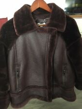 Whistles Faux Leather & Faux Fur Coat, LIKE NEW
