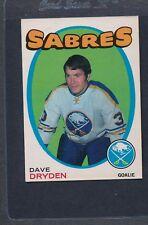 1971/72 OPC O-Pee-Chee #159 Dave Dryden Sabres EX *61