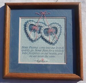 """IMAGINE DESIGN INSPIRATIONAL PLAQUE - """"FOOTPRINTS ON OUR HEARTS"""""""