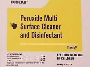 Peroxide Multi Surface Cleaner & Disinfectant-Ecolab 1-2L Concen. 3min Kill-Time