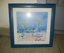 cadre bleu sur le thème bord de mer