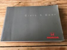 HONDA CIVIC 6TH GEN 5 DOOR  OWNERS MANUAL 1996- 2000  With 318 Pages