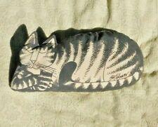 VINTAGE STUFFED SLEEPING  KLIBAN CAT RARE SUPER CUTE 16 INCHES LONG