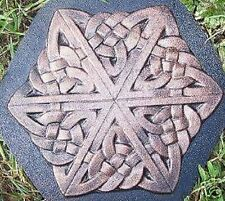 plaster,concrete,celtic star stepping stone mold