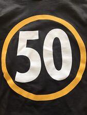 PITTSBURGH FOOTBALL RYAN SHAZIER 50 T SHIRT BLACK AND GOLD! SUPER BOWL