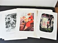 Set of (33) Comic Pages from 1937, 1939 and 1941 ESQUIRE MAGAZINE PUBLICATIONS