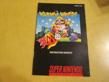 NINTENDO SNES  INSTRUCTION  BOOKLET FOR WARIO'S WOODS  SNES GAME
