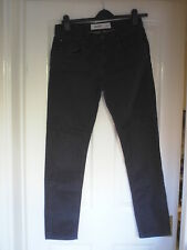 MENS NEW LOOK STRETCH SKINNY LEG INDIGO JEANS SIZE 34R ZIP FRONT EX COND