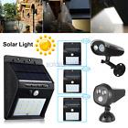 Solar LED Powered Outdoor Light PIR Motion Sensor Security Garden Wall Lamp
