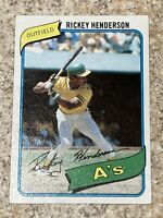 1980 Topps Rickey Henderson Rookie Card 482 Oakland A's