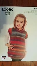 Naturally Knitting Pattern #K747 Girl's Top to Knit in Crazy Days Yarn 12 Ply