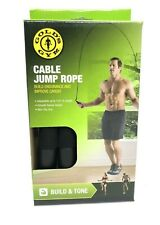 Gold's Gym Build & Tone Cable Jump Rope, Adjustable, Non Slip Grip. Brand New!