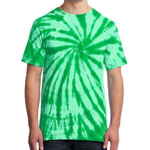 Tie Dye Mens T-Shirt Blank Tye Dyed Tee Spiral S, M, L, XL, 2X, 3X, 4X NEW