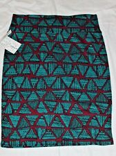 LuLaRoe Cassie Large L Teal Triangles and Purple Skirt NWT New FREE SHIP