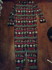 Budweiser Beer Christmas Pajamas Bodysuit Jumpsuit Ugly One Piece MENS Lg