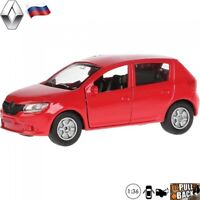 Diecast Car Scale 1:36 Renault Sandero Russian Model Car