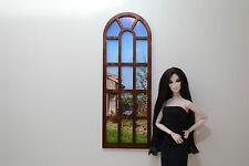 Window for Dolls 1:6 wooden diorama dollhouse furniture FR Barbie Momoko 1 pcs