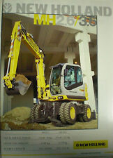 NEW HOLLAND MH2.6/3.6 BAGGER PROSPEKT SALES BROCHURE ENGLISCH