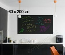 60 x 200cm Large Blackboard Removable Wall Sticker Chalkboard Decal Free Chalks