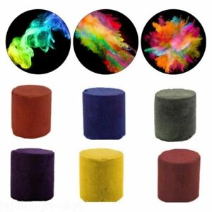 6Pcs Colorful Smoke Bomb Cake Background Show Stage Effect Photography Aiding