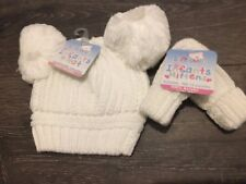 Baby Infant Bobble Hat 12 Months Chunky Blue Boy Knitted Soft Touch Girl