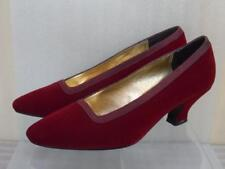 Nina Red Suede Leather Dress Pumps Shoes Sz 6M Adorable !