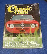 CLASSIC CARS MAGAZINE AUGUST 1986 - ALFA GTA RESTORED/BMW/XK120 RACER