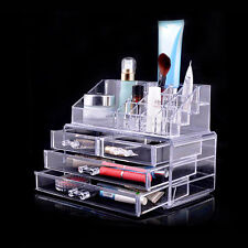 4 Drawers Beautify Clear Acrylic Cosmetic Makeup Display Storage BOX Organiser