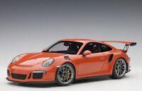 Autoart 78168 - 1/18 Porsche 911 (991) Gt3 Rs (2016) - Lava Orange - Neu