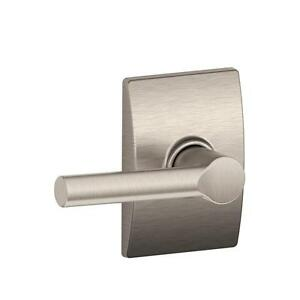 Century Satin Nickel Broadway Hall and Closet Passage Lever  F10 BRW 619 CEN