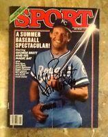 1985 Kansas City Royals GEORGE BRETT Signed SPORT Magazine