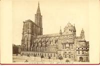 France, Strasbourg, La Cathédrale de Strasbourg  vintage albumen print Tirage