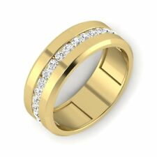 14k Yellow Gold Men's Wedding Engagement Band Ring 7 MM High Polished